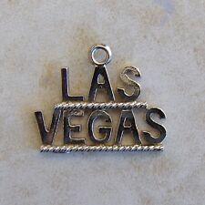 Las Vegas Nevada Sterling Silver Travel Bracelet Charm Gambling