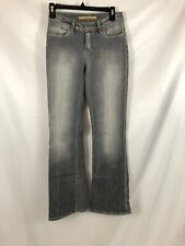 FRX Womens Size 25 Gray Distressed Boot Cut Jeans