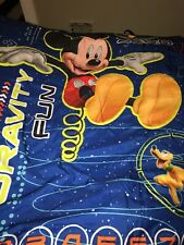 Disney Mickey Mouse Space Gravity Childs Blanket Toddler Donald Pluto Bedding
