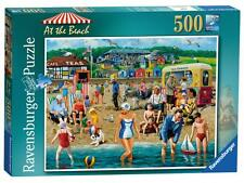 Ravensburger 14657 At The Beach Vintage Style Scene 500 Piece Jigsaw Puzzle New
