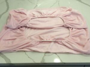 AMERICAN BABY CO. Soft Chenille Pink Full Size Crib Fitted Sheet. Excellent Cond