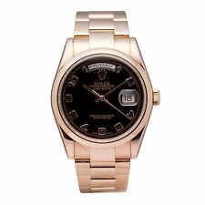 ROLEX PRESIDENT DAYDATE AUTOMATIC WATCH 118205 18K ROSE GOLD EVEROSE MENS UNISEX
