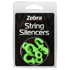 Zebra / Monkey Tails String Silencer Green 4 Pack