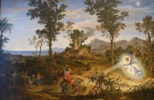 "oil painting handpainted on canvas ""Landscape with Balaam ""@12705"