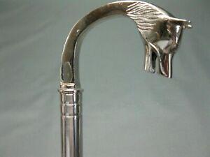 Work luxury stainless steel walking hiking stick silver 92cm walking cane Head
