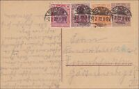 Germania: Ganzsache von Norden nach Frankfurt 1922