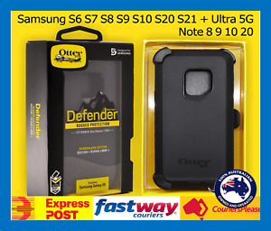 ⭐OtterBox Defender Samsung S6 S7 S8 S9 S10 S20 S21 + Ultra 5G Note 8 9 10 Case⭐