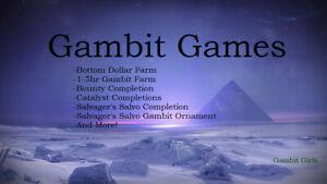 Destiny 2 Gambit, Bottom Dollar, Catalysts, Ornaments, Read Info! PS4 only!
