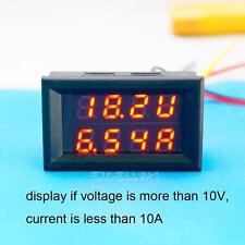 Premium LED DC 0-30V 10A Dual Digital Voltmeter Ammeter Panel Volt Gauge Meter