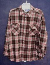 Vintage Pendleton Shirt 100% Virgin Wool Flannel Gray Plaid Mens Size XL Long