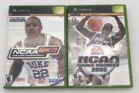 Lot Of 2 Xbox Games College Basketball NCAA 2K3/ March Madness 2005 Video Game
