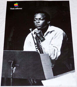 "APPLE Think different MILES DAVIS poster approx. 28""/20"" mint rolled shipping"