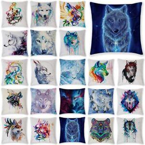 18'' Animals Wolf Pillow Cover Throw Pillow Case Sofa Cushion Cover Home Decor