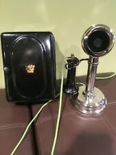 American Electric Candlestick Telephone made for Keystone Telephone Co Working!