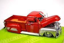 CHEVROLET 3100 PICKUP 1951 RED SILVER 1:24 JADA 97229 JUST TRUCKS NEW 99035