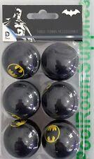 BATMAN Bat Man Table Tennis Ping Pong Balls x 6 Pack Gift Set Man Cave