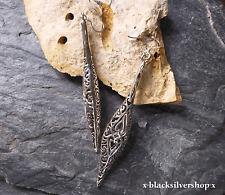 Keltische Lange Damen Ohrringe Silber 925 73,5 mm lang Jugendstil Gothic Celtic