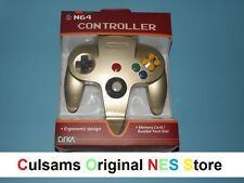 NEW NINTENDO 64 N64 (ZELDA-GOLD) CONTROLLER WITH A 30 DAY GUARANTEE
