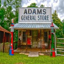 LFEEY 5x5ft Western Countryside Backdrop Adams General Store Photo Wooden House