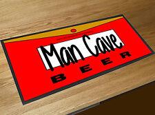 Man Cave Cartoon Beer Label bar runner Pubs Clubs & Cocktail Bars