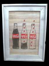 Coca-Cola Wood Shaker Framed Contour Bottle Wall Decor - BRAND NEW