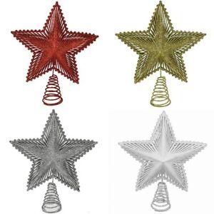 Puntale stella oro rosso bianco argento per albero di natale addobbi natalizi de