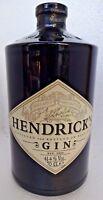 Vintage Bottle Hendrick's Gin Black Glass Cylinder Shape Rare Collectibles Empty