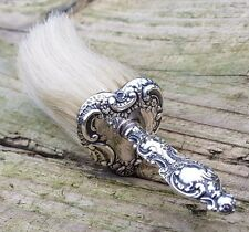 ANTIQUE VICTORIAN HM SILVER HEART SHAPED CLOTHES HAT BRUSH 1900 WALKER & HALL