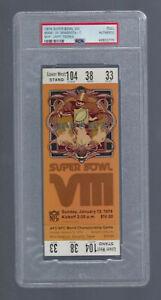 PSA SUPER BOWL VIII 1974 DOLPHINS v VIKINGS LARRY CSONKA MVP VINTAGE FULL TICKET