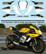 1/12 YAMAHA YZF-R1 M 60TH  ANNIVERSARY DECALS CONVERSION SET FOR TAMIYA TBD335