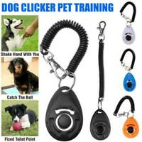 Pet Dog Training Clicker Cat Puppy Button Click Trainer Obedience Aid Wrist ABS-
