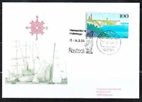 Germany 1994 brief cover Old sailing ships Rostock festival Nordposta