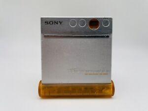 MD1988 working  SONY MD WALKMAN MZ-E800  Silver  w/Stand