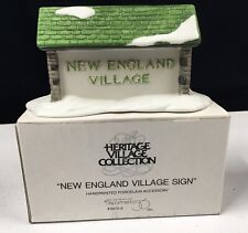 Dept 56 Heritage Village Collection New England Village Sign 6570-6 (with Box)