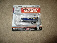 Boley Emergency Services Die-Cast Police Patrol Speed Boat MOC 1:87 H0 Scale