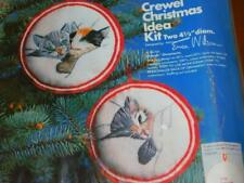 New listing Erica Wilson Cm Columbia Minerva Crewel Kit Christmas Idea Chessie Ornaments Cat
