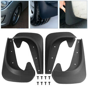 4PCS Car Mud Flaps Splash Guards for Front or Rear Auto Universal Accessories