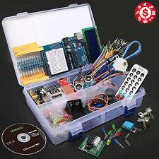 UNO R3 Ultimate Starter Kit For Arduino LCD Stepper Servo Ultrasonic Motor 1602