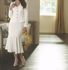 Mother of Bride Groom Women's Wedding party evening White Skirt suit size 16L XL