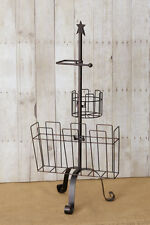New Primitive Country STAR TOILET PAPER HOLDER MAGAZINE RACK Floor Stand