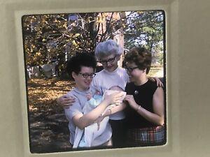 Lot Of 37 Older Women Americana Slide 1960s People Kodachrome Glasses