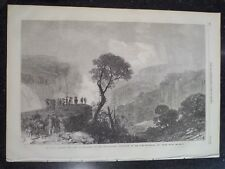 Weatherboard Falls Blue Mountains New South Wales 1868 Illustrated London News