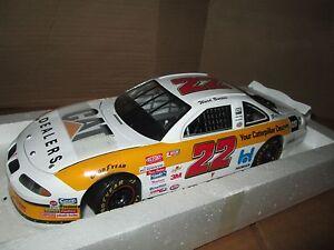 RARE Ward Burton #22 CAT Dealers 2000 NASCAR Ertl Pro Shop 1:18 broken trunk lid