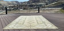 "Beautiful Antique Cr1900-1939's Muted Natural Dye Oushak Area Rug 6'7""×10'"