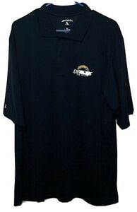 San Diego Chargers NFL Dark Blue Antigua 3 Button Polo Mens Size XL