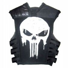 Thomas Jane PUNISHER WAR Tactical Neri in Pelle Gilet Giacca Costume