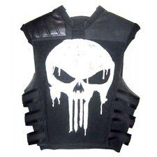 Thomas Jane Punisher War Tactical Black Leather Vest Jacket Costume