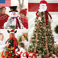 Santa Snowman Christmas Tree Topper Decoration Holiday Tree Ornament Festival US