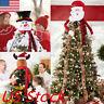 Santa Snowman Christmas Tree Topper Decoration Holiday Tree Ornament Festival US
