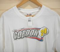 NWT Jeff Gordon Men's Size L T-shirt 2008 Nascar Dupont Short Sleeve White NEW
